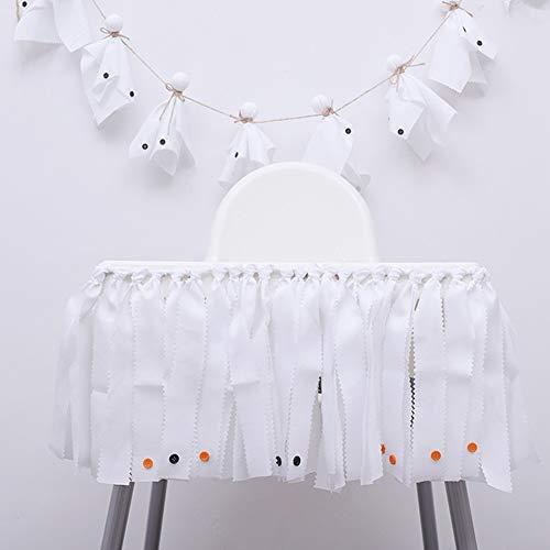 TRRAPLE Halloween Banner Hanging Ghost Doll, Hanging Halloween Bunting, Indoor Outdoor Halloween Decor 200CM -