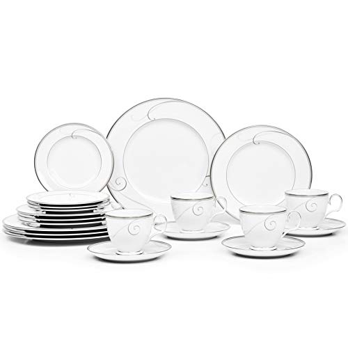 Noritake Platinum Wave 20-Piece Set, Service for 4
