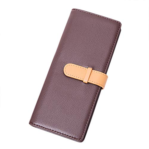 Men and Women Business Card Holder Book Multi Card Bank Card Package 40 Bit Coffee]()