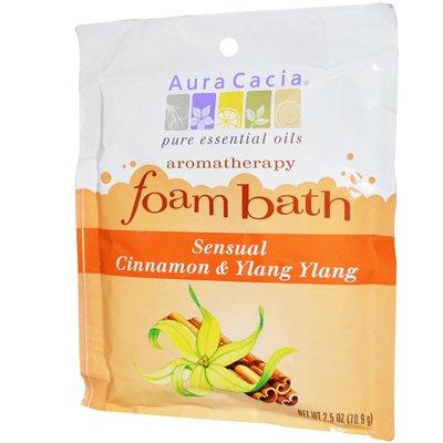 Aura Cacia - Aura Cacia Foam Bath Sensual Cinnamon And Ylang Ylang - 2.5 Oz (Pack of 6) - Pack Of 6