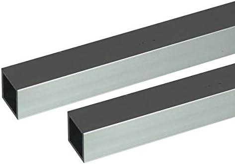 アルミ角パイプ 2m 1.5×20×20mm シルバー 2本組 オーダーメイド品 納期約8営業日 キャンセル・返品不可