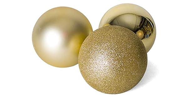 Gerimport Pack 3 Bolas de Navidad Oro Doradas 20cm: Amazon.es: Hogar
