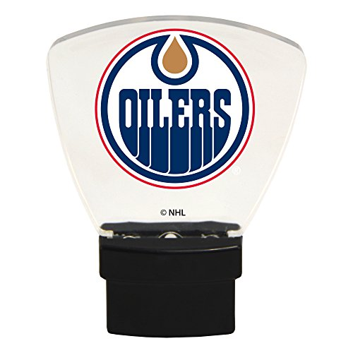 Authentic Street Signs NHL Officially Licensed-LED NIGHT LIGHT-Super Energy Efficient-Prime Power Saving 0.5 watt, Plug In-Great Sports Fan gift for Adults-Babies-Kids Room … (Edmonton Oilers) from Authentic Street Signs