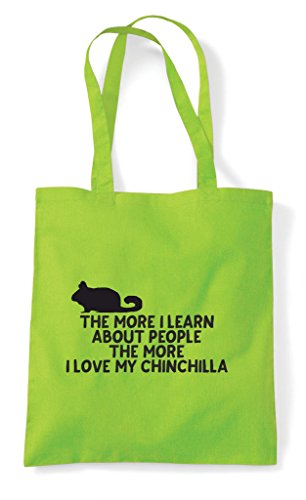 Bag Love Lover Tote Learn Pets I Lime Animal About The Funny Shopper Chinchilla Person More My People TXqq6O