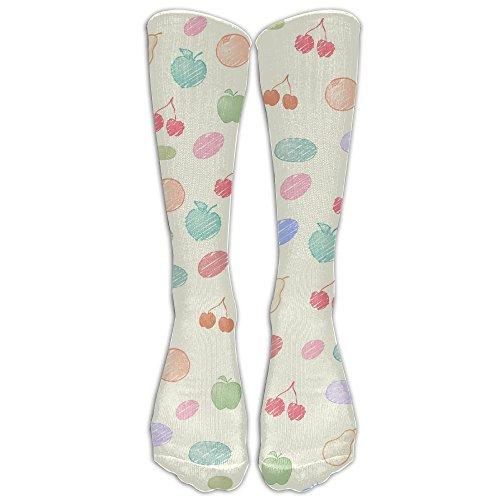 Cherry Unisex Tube Socks 100% Brand New Elastic Comfortable High Socks Ankle Cotton - Mall Creek Cherry