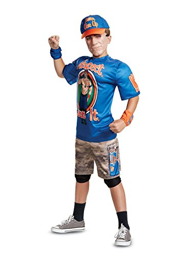 Disguise John Cena Classic Muscle Child Costume, Blue, -