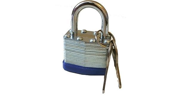 Nuevo 40 mm Candado resistente al agua - acero sólido resistente - 2 llaves con cada cerradura - seguridad del hogar/Garden/garajes/cobertizos/en cualquier ...