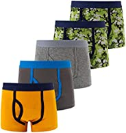 Achiyi Little Boys Toddlers Cotton Boxer Briefs Underwear Panties Pattern 5 Pack Soft Breathable for 2-12Y