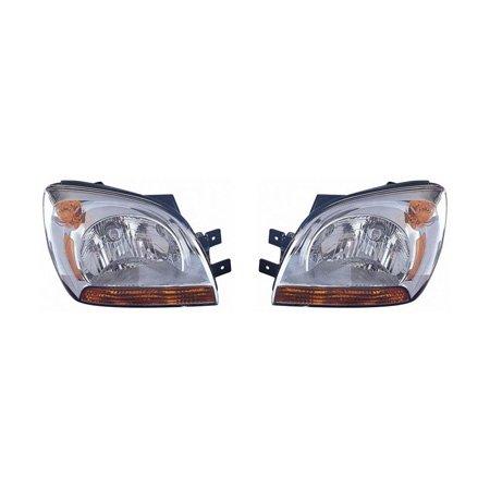 Fits Kia Sportage 2005-2008 Headlight Assembly Pair Driver and Passenger Side KI2502115, KI2503115