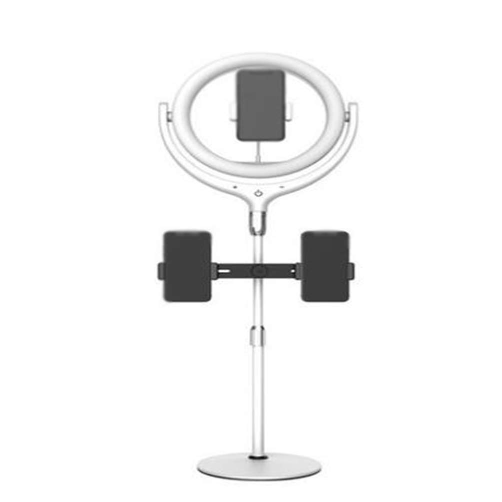 WYQSZ 11.8inch Ring Light Kit with Light Stand, Soft Tube, Dish Base, Telescopic Rod, Three Mobile Phone Holders, Suitable for Live Broadcast and Shouting Wheat by WYQSZ