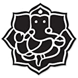 Ganesha Ganesh God Hindu Vinyl Sticker - Car Phone Helmet - SELECT SIZE