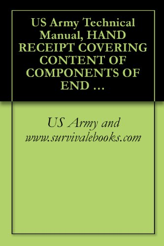 US Army Technical Manual, HAND RECEIPT COVERING CONTENT OF COMPONENTS OF END ITEM (COEI) BASIC ISSUE ITEMS (BII), AND ADDITIONAL AUTHORIZATION LIST, (AAL), ... TM 32-5820-900-10-HR, 1995