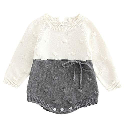 MERICAL Pasgeboren baby meisje kleding gebreide rompertje jongen Unisex strik knoop Bodysuit haak Outfits …