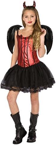 Disfraz de diablesa para niña 10-12 años (164 cm): Amazon.es ...