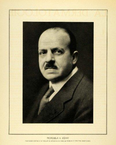 1936 Print Portrait Dr. Albert Sezary French Dematologist Dermatology Medicine - Original Halftone Print