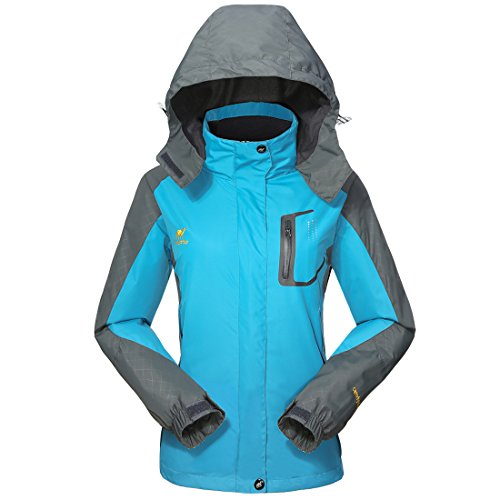 Shell 004 Series - Waterproof Jacket Rain Coats for Women -GIVBRO Outdoor Hooded Softshell Camping Hiking Mountaineer Travel Windproof Jackets