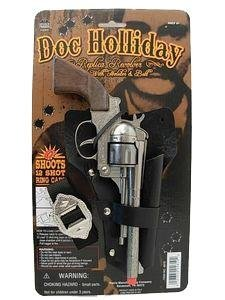 Doc Holiday Holster Set Toy Cap Guns Kids Costumes