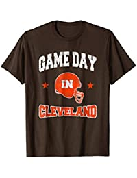 Football Season Game Day in Cleveland Football Fan T-Shirt