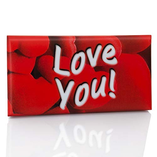 Love Gift Chocolate Bar, Kosher, Milk, Rich, and Tasty, Dark Cocoa flavored, Wrapped in a Love Presentable Decoration, Ideal Sweet Holiday Box, I Love You! (Milk Ideal)