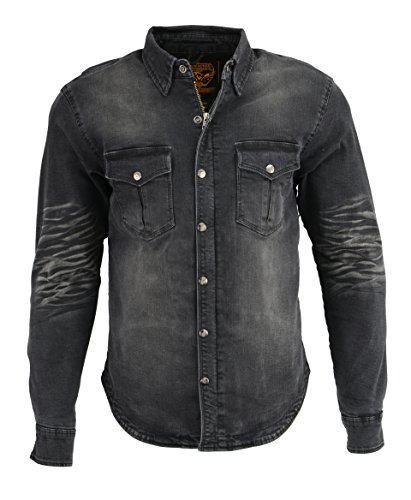Milwaukee Performance Men's Denim Biker Shirt With Aramid (Black, X-Large)