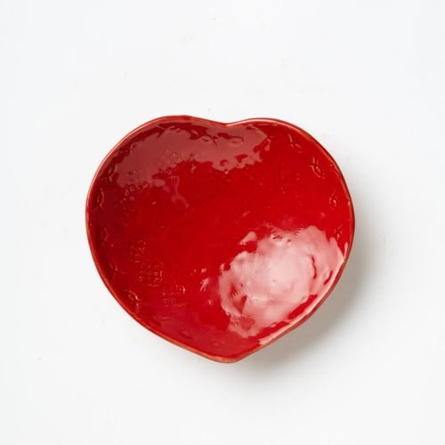 Vietri Bellezza Red Boxed Heart Dish, Boxed