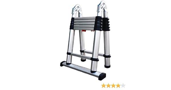 Aluminum Telescoping Ladder 13 ft Pinch-Free ?Multi-function household folding ladder Reach 12.5ft//16ft//18ft//20ft//25ft//30ft Soft-Close System 150kg Max Capacity