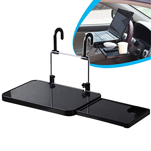 LINGLONGQP Folding car Dining Table, Multi-Function Steering Wheel Portable Laptop Tablet Desktop Stand, Beverage Food Cup Tray