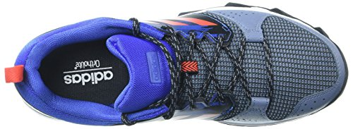 Adidas Hombres Galaxy M Trail Runner, Urban Trail / Tech Grey / Electricity, 10 M Us Raw Steel / Hi-res Red / Hi-res Blue