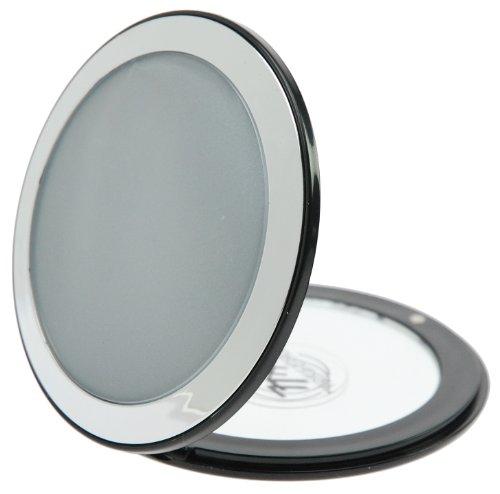 Fantasia Taschenspiegel - Kunststoff Silber/Schwarz, 7-fach VergröÃYerung