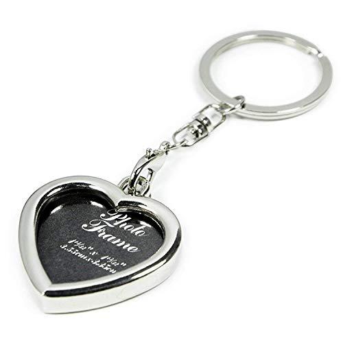 Yosoo Mini Creative Metal Alloy Buckle Insert Photo Picture Frame Keyring Keychain Car Key Chain Ring Keyfob Gift (Heart-Shaped)