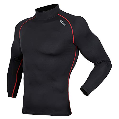 DRSKIN] Thermal Wintergear Fleece ColdGear Tight Thermal Compression Base Layer Long Sleeve Under top Shirts (HOT SBR06, S)