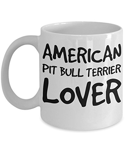 American Pit Bull Terrier Lover Mug - White 11oz Ceramic Tea Coffee Cup - Perfect For Travel And Gifts ()