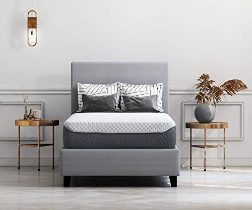 Ashley Furniture Signature Design - 10 Inch Chime Elite Mattress - Twin Size - White & Blue (Much Are How Daybeds)