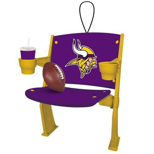 Minnesota Vikings Logo Stadium Chair Ornament