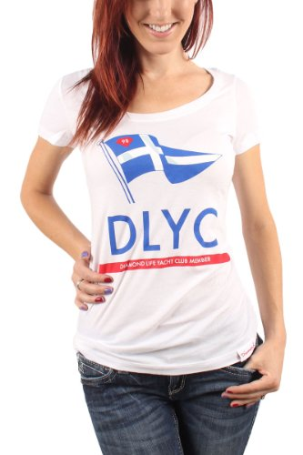 Diamond Supply Co. - Womens DLYC Member Scoop T-Shirt in White, Size: Medium, Color: White (Diamond Supply Co Shirts Women compare prices)