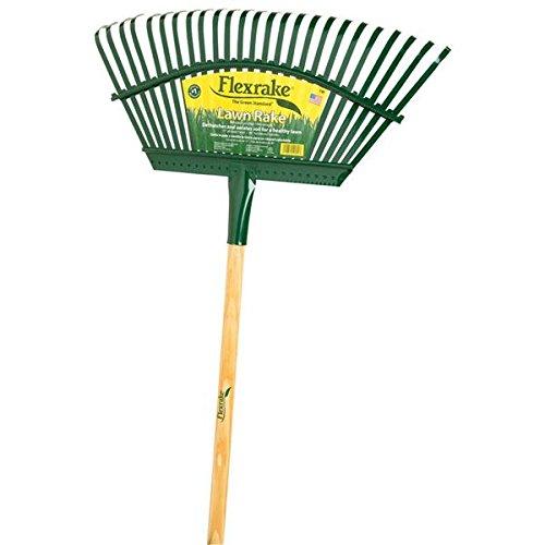 Flexrake 19 Rasenluefter Stahlkopf mit 48 Holzgriff