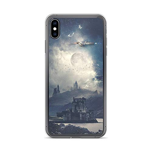 iPhone Xs Max Case Anti-Scratch Phantasy Imagination Transparent Cases Cover The Dark World Fantasy Dream Crystal Clear]()