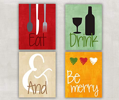 Eat Drink and Be Merry Kitchen Wall Art (Eat Drink Be Merry Wall Canvas)