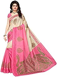 CRAFTSTRIBE Bhagalpuri Silk Saree Party Wear Indian Wedding Bollywood Women Bridal Sari
