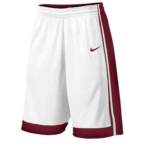 (Nike Mens National Varsity Basketball Shorts White/Maroon 639400-104 (Small))