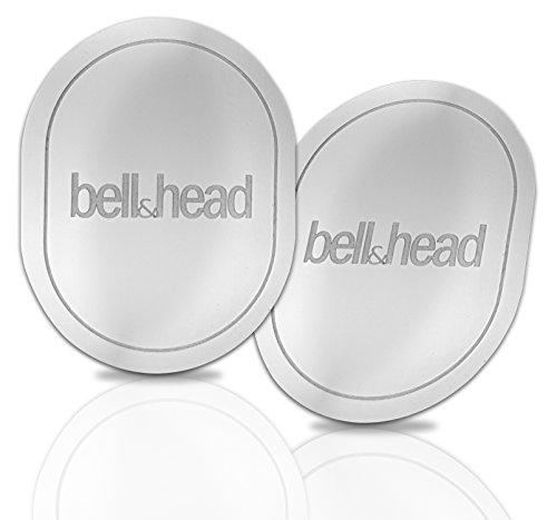 2er Set Metallplättchen mit Klebefläche für KFZ Magnet-Handy-Halterung - Zusatz-Set oder Ersatz für Original Platten von bell & head oder anderen Anbietern