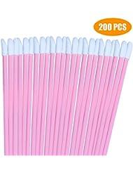 200PCS Pink Lip Gloss Applicators,Disposable Lip Brushes Lipstick Gloss Wands Applicator Perfect Makeup Tool Kits