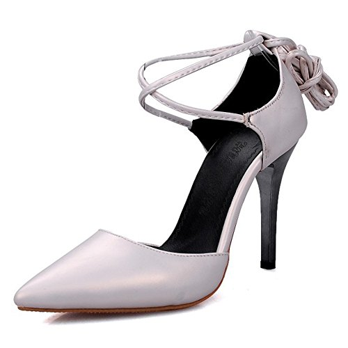 Pointed Heel Toe Stiletto Strap High White Shoes Pumps Ankle Eclimb Women's 5qHaaF