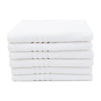 ZOLLNER 6 Toallas de tocador de Rizo Blancas, 100% algodón, 40x60 cm: Amazon.es: Amazon.es
