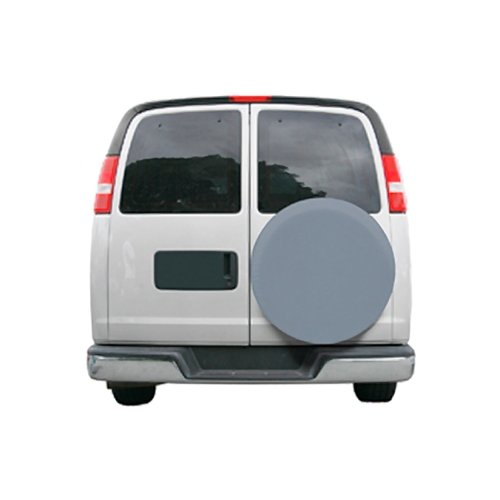 Classic Accessories 80-091-171001-00 OverDrive Custom Fit Spare Tire Cover, Grey, 26.75'' - 27.75''