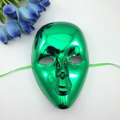 [Fashion Cosplay for Halloween Masquerade Carnival Party Prom Carnival Mask (Green)] (New Blood Jason Costume)
