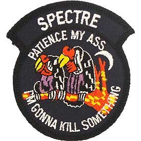US Air Force Military Iron On Patch - C-130 - Spectre