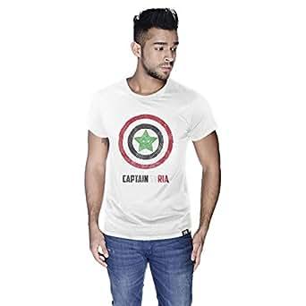 Creo Captain Syria T-Shirt For Men - L, White