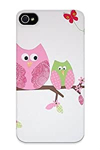 Honeyhoney Faddish Phone Owlfor Kids Case For Iphone 4/4s / Perfect Case Cover