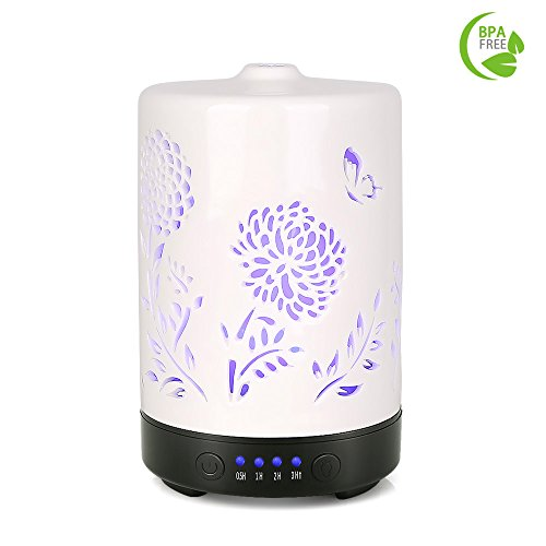 COOSA 100ml Ceramic Aromatherapy Essential Oil Diffuser with